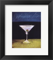 Framed Dry Martini with Olive