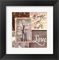 Framed Blue DiamondsLove I