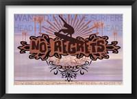 Framed NO REGRETS: BIG WAVE SURFER