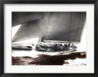 Framed Rainbow's Run 1934 Vintage Maritime