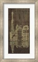 Framed Paris Quai * (Gold Bronzed)