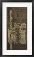 Framed Paris Quai * (Gold Bronzed)