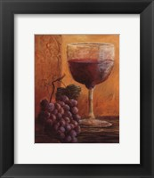 Grapes and Wine IV Framed Print
