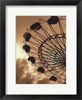 Framed Ferris Wheel - contrast black & white