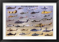 Framed Military Helicopters