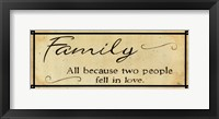 Vintage Family Framed Print