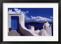 Framed White with Blue Dome