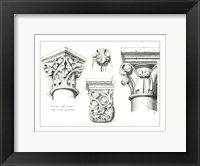 Framed Capital And Corbels