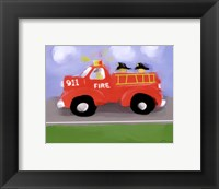 Framed Fire Truck