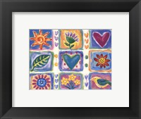 Framed Hearts and Flowers III