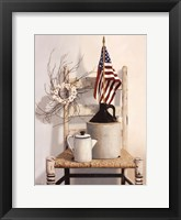 Framed Chair With Jug and Flag