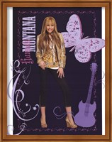 Framed Hannah Montana: Golden Glamour Girl