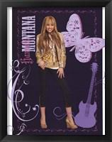 Framed Hannah Montana: Golden Glamour Girl