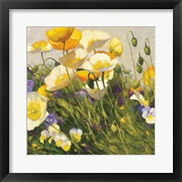 Framed Poppies and Pansies I