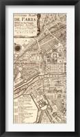 Plan de la Ville de Paris, 1715 (L) Framed Print
