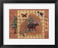 Moose Leaf Framed Print