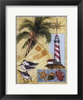 Lighthouse Letters Framed Print