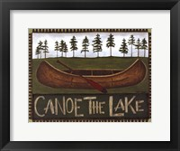 Canoe On The Lake Framed Print