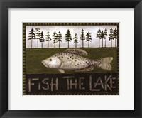 Fish The Lake Framed Print