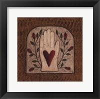 Framed Hand 'N Heart