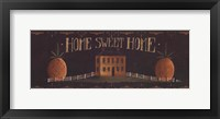 Home Sweet Home - tan house Framed Print