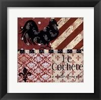 Framed Le Cochete