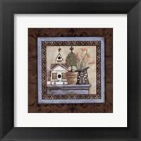 Framed Garden Scroll III