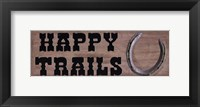 Framed Happy Trails