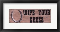 Framed Wipe Your Shoes