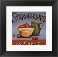 Strawberries & Cream - mini Framed Print