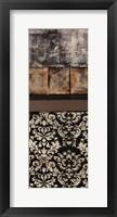 Nature's Damask Panel I Framed Print