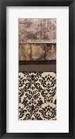 Nature's Damask Panel II Framed Print
