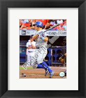 Framed Ian Kinsler 2008 Batting Action