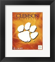 Framed 2008 Clemson University Team Logo