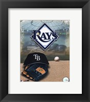 Framed 2008 Tampa Bay Rays Team Logo