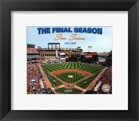 Framed 2008 Shea Stadium Final Season With Overlay