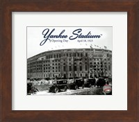 Framed Yankee Stadium 1923 Opening Day With Overlay