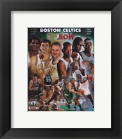 Framed 2008 Boston Celtics Then & Now Composite