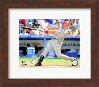 Framed Mark Teixeira 2008 Batting Action
