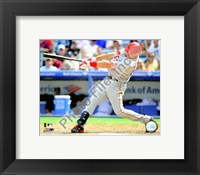 Framed Mark Teixeira 2008 Batting Action