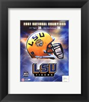 Framed LSU BCS National Champs logo photo