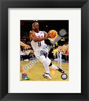 Framed Dwyane Wade 2008 Team USA Action