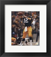 Framed Terry Bradshaw Passing Action