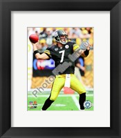Framed Ben Roethlisberger 2008 Action