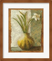 Framed Narcissus in Green Vase