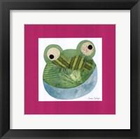 Framed Green Frog
