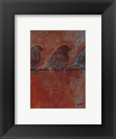 Framed Row of Sparrows II
