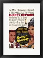 Framed Roman Holiday Audrey Hepburn