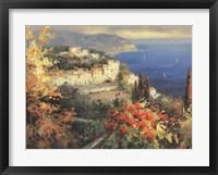 Mediterranean Seascape Framed Print