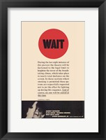 Framed Wait Until Dark Turn Off Lights